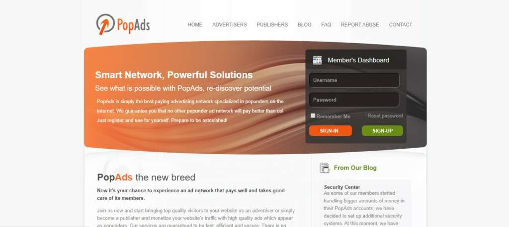 Popads - Best recurring affiliate Network