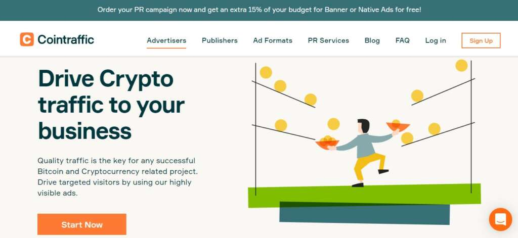 Cointraffic for advertisers